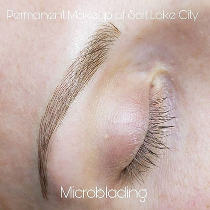 Microblading- Hair strokes done with a h