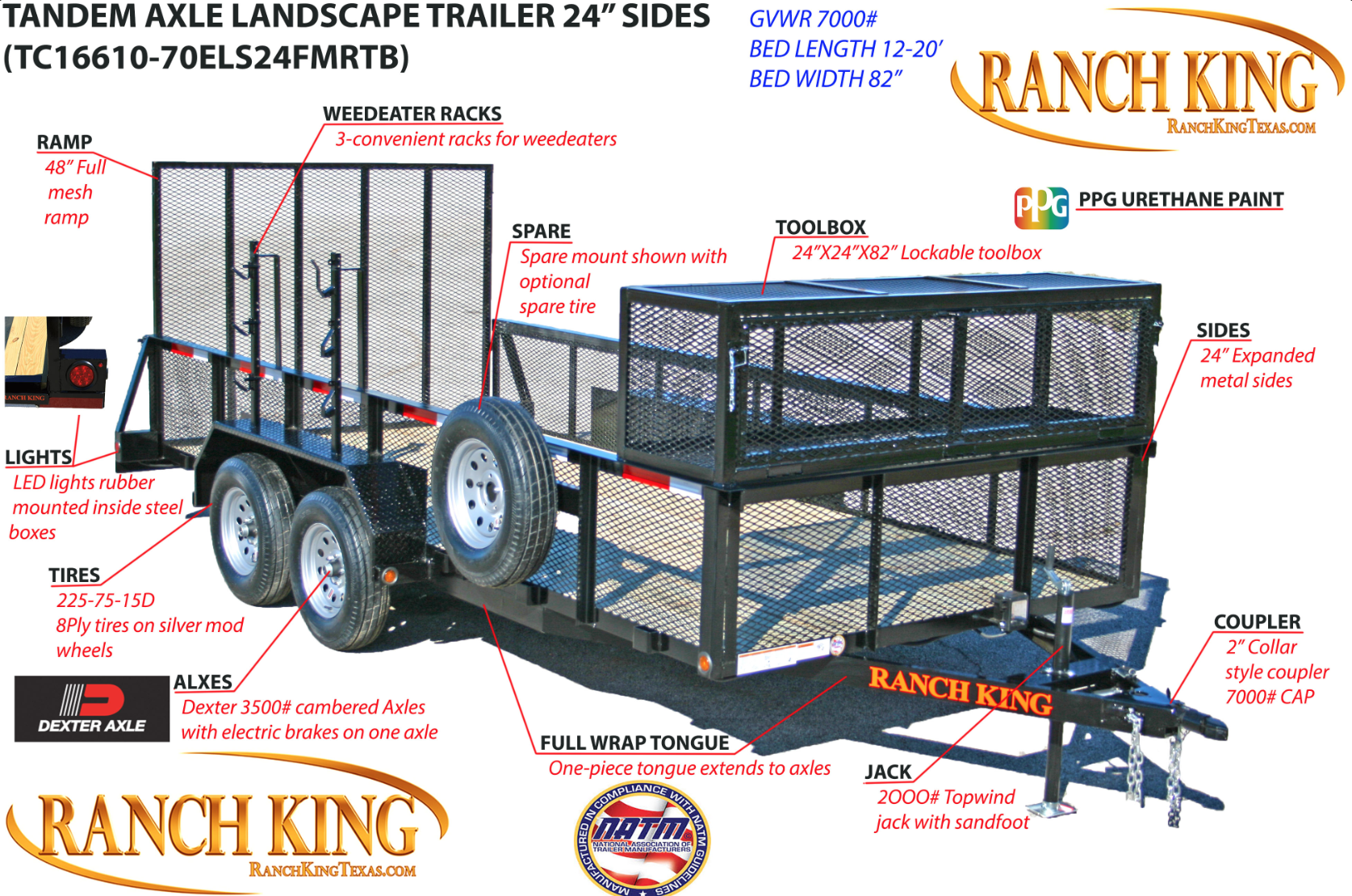 TC Series Tandem Axle Landscape Low Sides