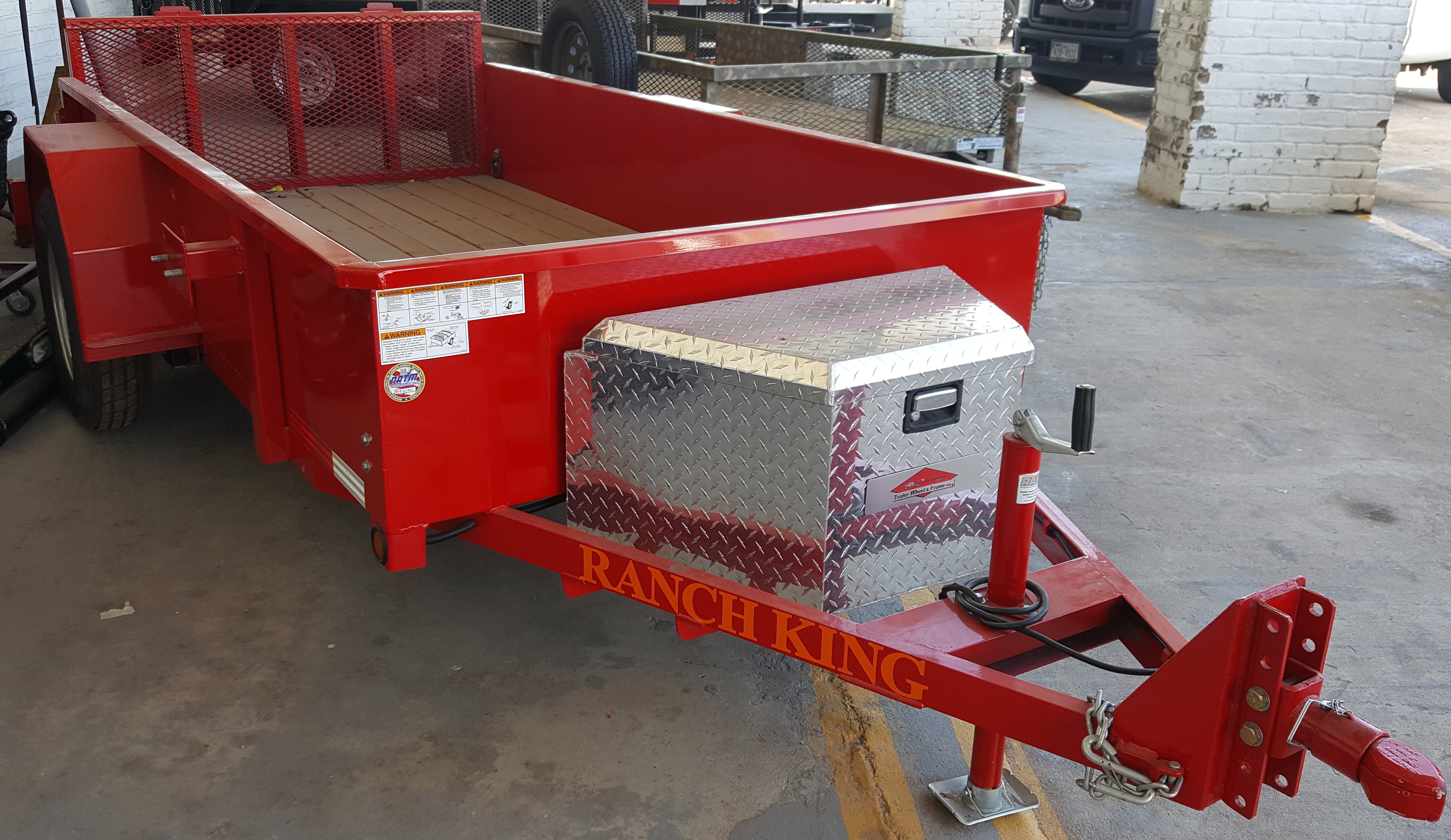 Red Utility Trailer