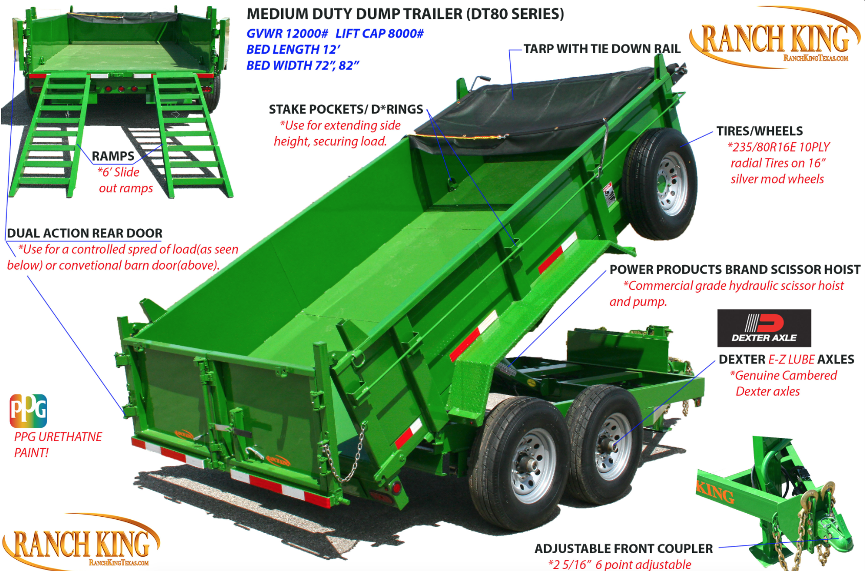 DT80 Medium Duty Dump Trailer