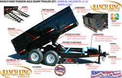 Tandem Axle Dump Trailer