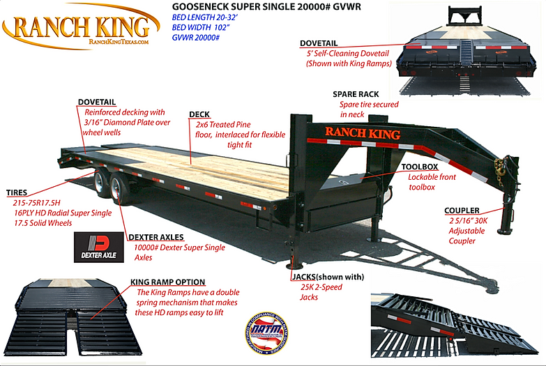 Ranch King Trailers from Trailer Wheel & Frame