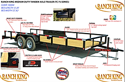 Ranch King Trailers from Trailer Wheel Frame