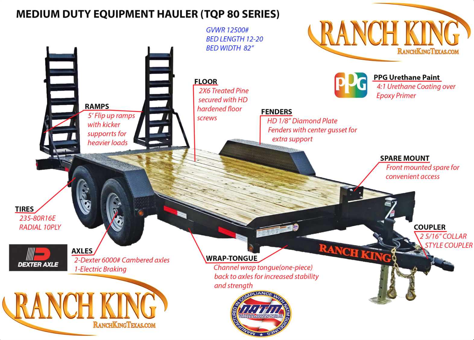 TQP80 Medium Duty Equipment Hauler