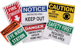 Signs, Safety Signs, Facility Signs