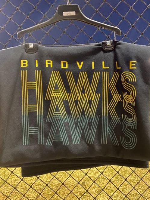 Hawks Black Blanket