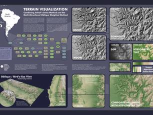 Exploring Terrain Visualization with Map Algebra and Custom Colour Ramp