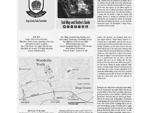 Layout for Folding Trail Map side 1