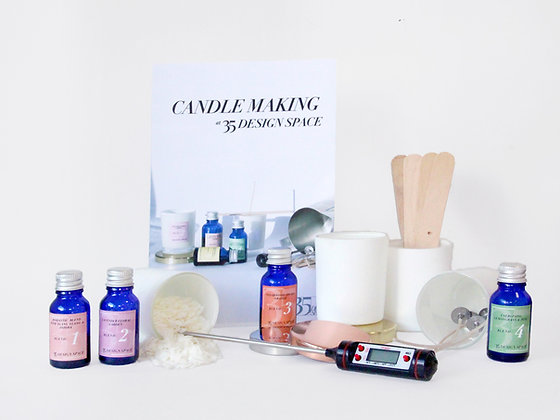 35 Natural & Vegan Candle Making Kit (2 candles)