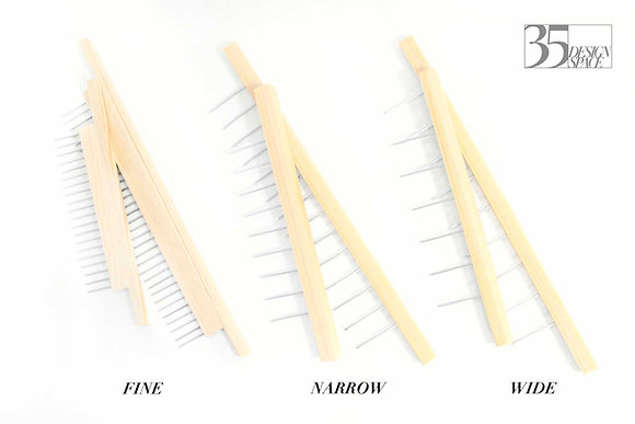 Custom Made Paper Marbling Combs for Really Useful Box 4L