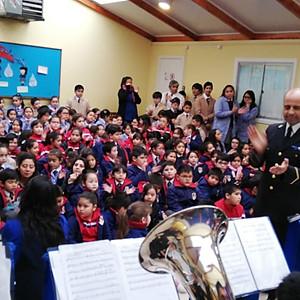 Visita Banda de la Marina Chilena