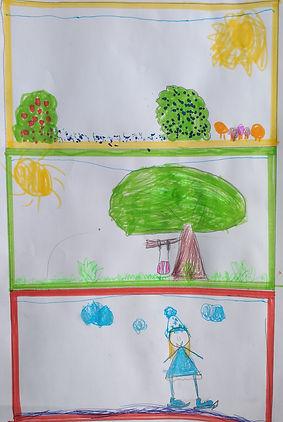 Emilė Valungevičiutė 7 m. Miško ir sodo