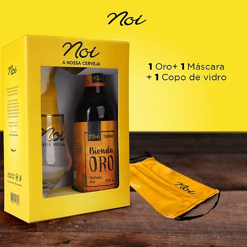 KIT BIONDA ORO + COPO DE VIDRO + MÁSCARA