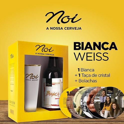 KIT BIANCA WEISS + TAÇA DE CRISTAL NOI + BOLACHAS NOI