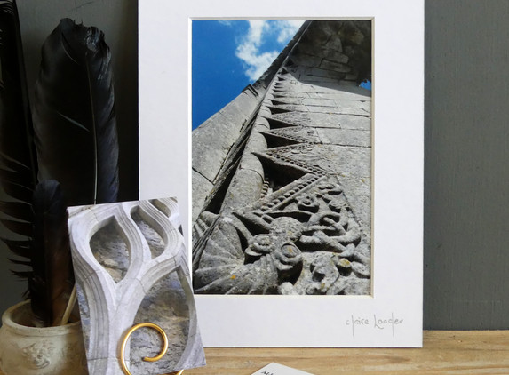 dragon-lines-mounted-print