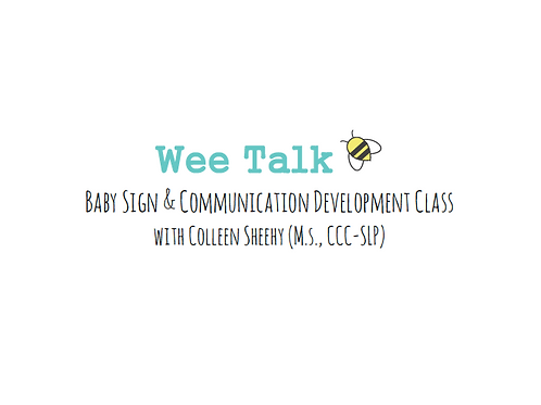Wee Talk Fall Session Wednesdays 4:00-4:45