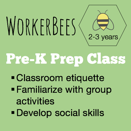 Pre-K Prep Class Fall Session Thursdays 9-11am