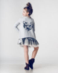 It is something for cat's lovers. Light grey blouse for girls with hand-painted print.