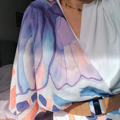 IRIS ręcznie malowana chusta