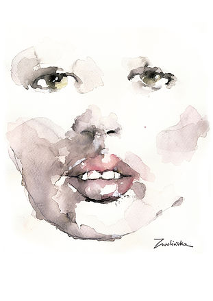 Kate-Moss-hand-painted-portrait-made-using-watercolors-and-ink