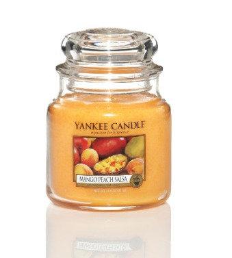 """Moyenne Jarre """"Mangue et pêche"""" Yankee Candle"""