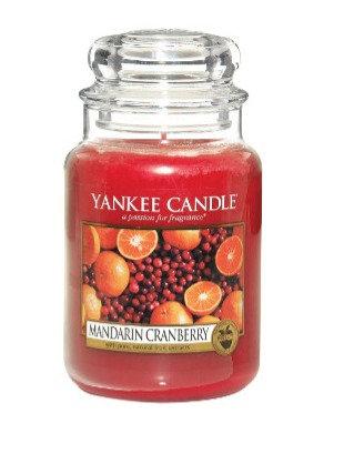 "Grande jarre ""Mandarine et canneberge"" Yankee Candle"
