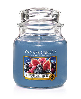 """Moyenne Jarre """"Figues et mûres gourmandes"""" Yankee Candle"""
