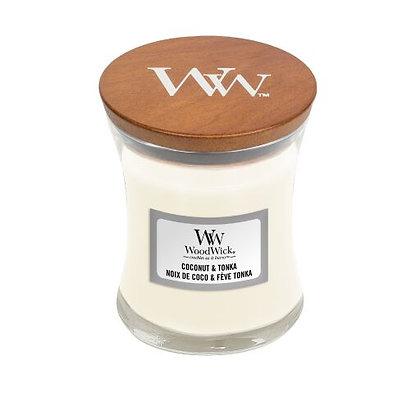 "Mini jarre ""Noix de Coco et Fève Tonka"" WoodWick"