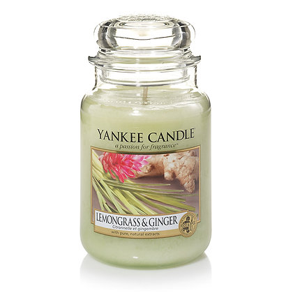 "Grande jarre ""Citronnelle et gingembre"" Yankee Candle"