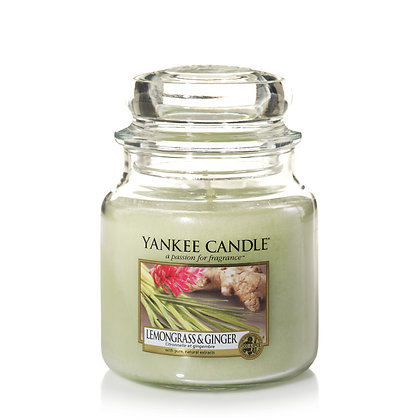 """Moyenne Jarre """"Citronnelle et gingembre"""" Yankee Candle"""