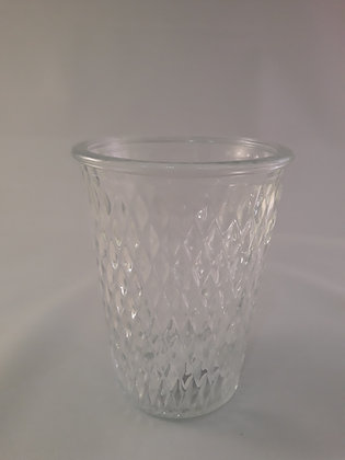 Photophore en verre à motif