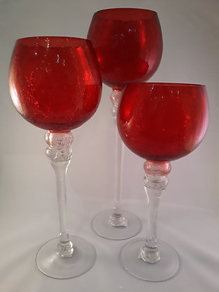 Set de 3 verres photophore