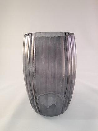 Vase ondulé fumé petit modèle