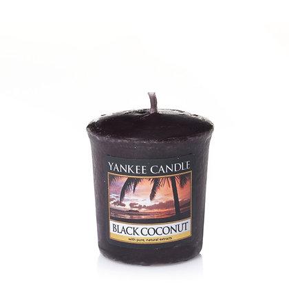 """Votive """"Noix de coco noire"""" Yankee Candle"""