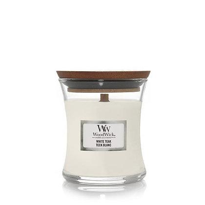 """Mini jarre """"Teck blanc"""" WoodWick"""