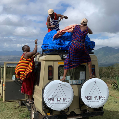 Visit Natives's  safari car in Tanzania