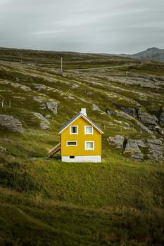 Yellow house on the island of Soroya