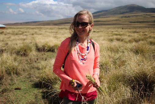 A traveler in Ngorongoro Conservation Area, Tanzania