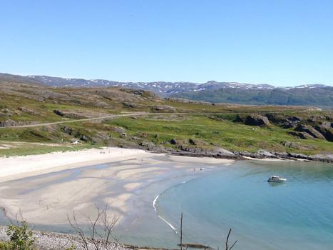 An Arctic beach on Soroya island