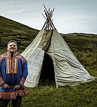 Sami reindeer migration in Norway