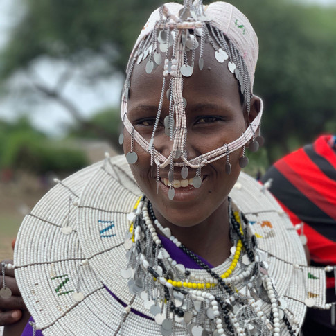 A smiling Maasai woman in Tanzania