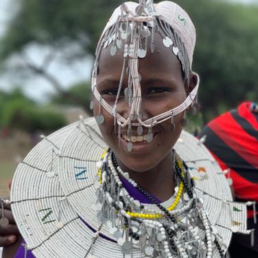 A smiling Maasai woman in Tanzania