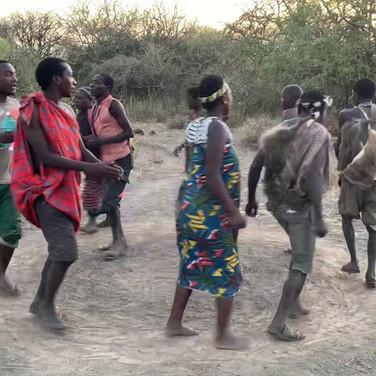 The Hadzabe dancing in Lake Eyasi, Tanzania