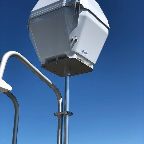 "12"" Vertical Portable Satellite Ladder Mount"