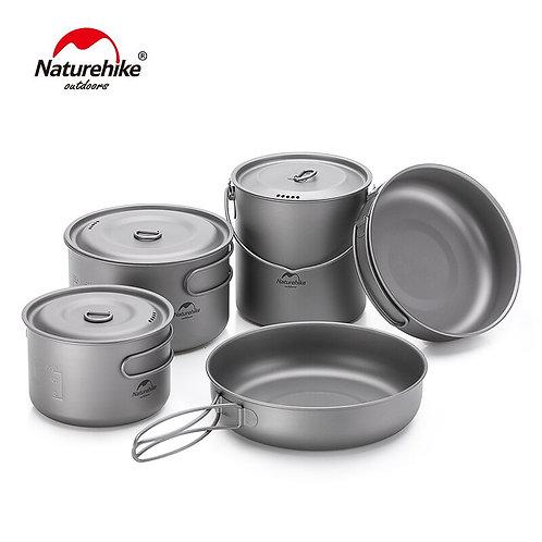 Ultralight Titanium Camping Cookware