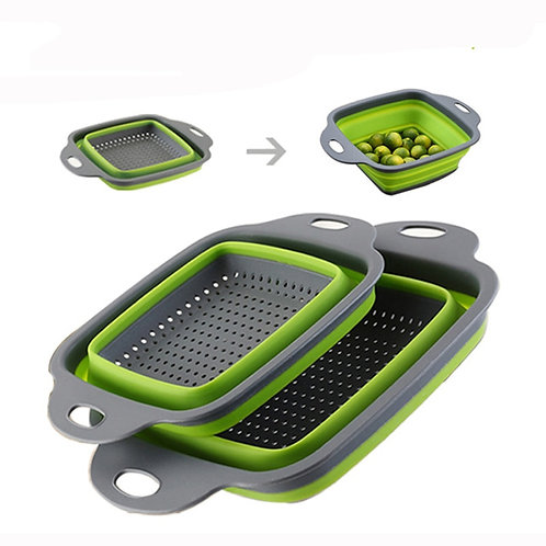 Silicone Square Shape Collapsible Colanders