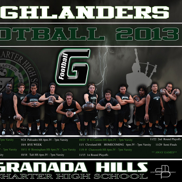 Granada Hill Football Team Schedule