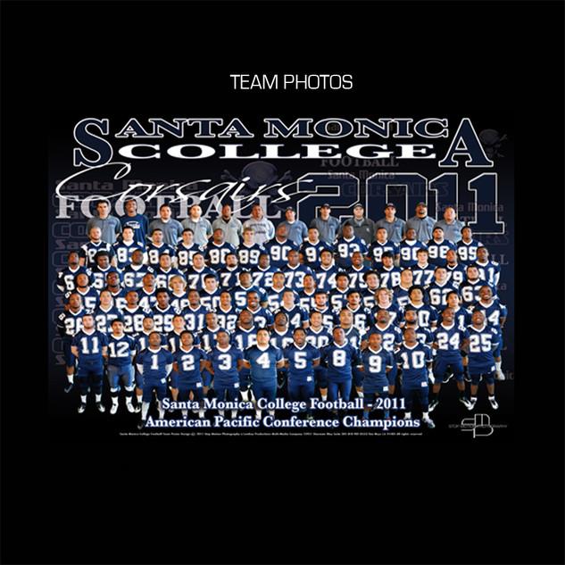 Santa Moncia College Football Team Poster