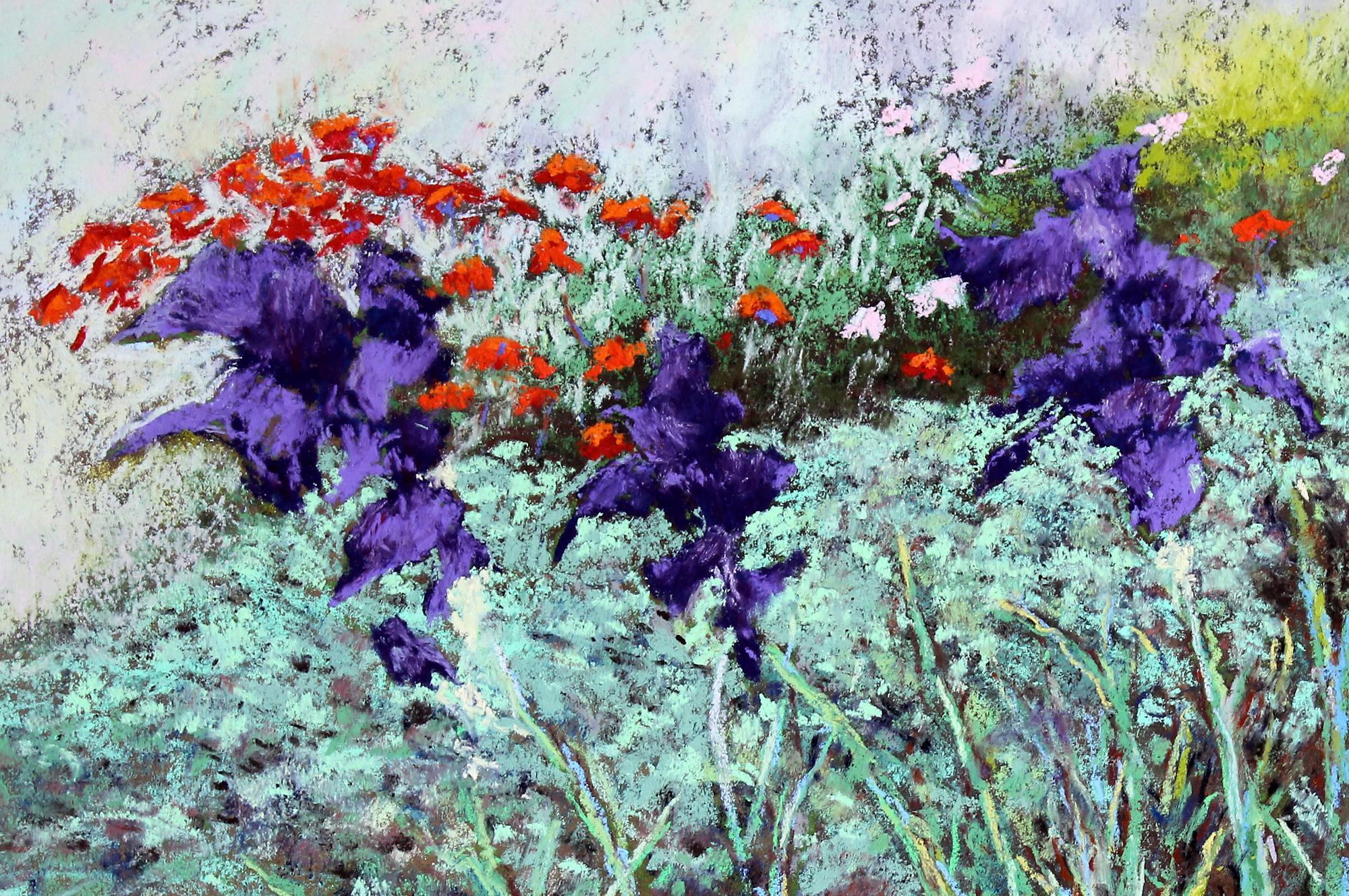 Nimmon, Terry - Irises with Poppies