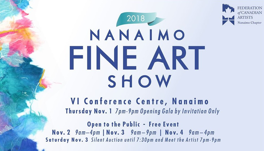 2018 Nanaimo Fine Art Show Poster